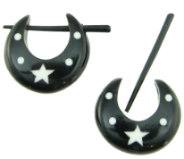 Thorn Style Horn Pincher Hoop Star Earrings