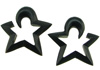 Hanging Horn Star Earrings, 0000 gauge