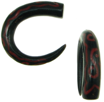 Horn Claws, Red Tattoo Designs, 6 gauge - 5 gauge