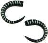 Horn Claws with White Stripes Tattoo Designs, 6 gauge - 4 gauge