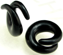 Large Gauge Horn Coil Earrings