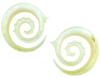 000 gauge Mother of Pearl Fancy Spiral Earrings
