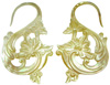 Mother of Pearl Floral S Hook Earrings, 9 gauge through 12 gauge (pair)