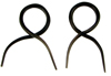 Tiny Horn Twists, 16 gauge through 13 gauge (pair)