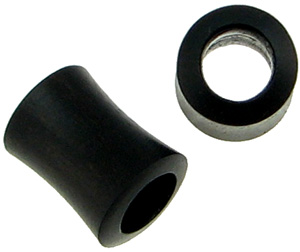 Hollow Areng Wood Saddle Plugs, 0 gauge and 00 gauge (pair)