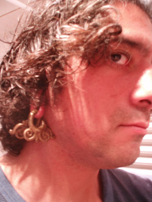 Marijn ordered 2 different pairs of Dayak Brass Ear Weights