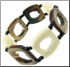 African Beaded Hollowed Square Bones Bracelet (SKU: B37A)