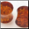 "000 gauge - 5/8"" diameter fake amber double flared plugs"