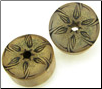 Bamboo Cylinder Plugs, Burnt Star Flower Designs (SKU: BCP-B11)