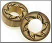 Bamboo Cylinder Plugs, Burnt Jungle Flower Designs (SKU: BCP-B12)