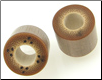Bamboo Cylinder Plugs, Burnt Dots (SKU: BCPBD-D)