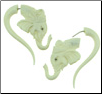 Bone Fake Gauge Elephant Earrings (SKU: BF-6)