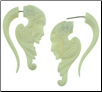 Bone Fake Gauge Geisha Earrings (SKU: BF-7)