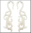Tall Lacy Bone Fake Gauge Earrings (SKU: BF-9)