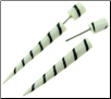 White Bone Fake Gauge Taper Spiral Earrings (SKU: BF-SK1)
