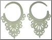 Large Gauge Balinese Lace Bone Hook Earrings (SKU: BHK-L)