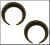 Coconut Shell Captive Hoop Gauge Earrings (SKU: CCBR)