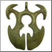 Filipino Tribal Brass Horned Animal Pendant (SKU: DBP-5)