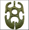 Filipino Tribal Brass Horned Animal Pendant (SKU: DBP-6)