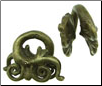 Dayak Brass Large Double Aso Dragon Ear Weights (SKU: DBW-17)