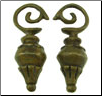 Dayak Brass Betel Nut Drop Ear Weights (SKU: DBW-18)