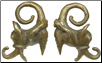 Dayak Brass Aso Dragon Ear Weights (SKU: DBW-6)