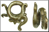 Dayak Brass Small Coil Single Aso Dragon Ear Weights (SKU: DBW-9)