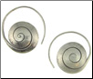 Karen Tribe Silver Snail Spiral Earrings (SKU: E117)