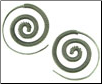 Karen Tribe Silver Coiled Spiral Earrings (SKU: E120)