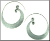 Karen Tribe Silver Medium Flat Hoop Earrings (SKU: E122)