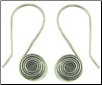 Karen Tribe Silver Hanging Small Flat Coiled Spiral Earrings (SKU: E126)