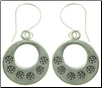 Karen Tribe Silver Hanging Stamped Flower Earrings (SKU: E129)