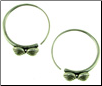 Thai Hill Tribe Fine Silver Knobby Hoop Earrings (SKU: E135)