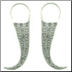 Thai Mein Tribe Silver Tiger Teeth Earrings (SKU: E27)