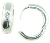 Sterling Silver Hoop Pierced Earrings, White Zirconium Stone (SKU: E2)