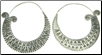 Karen Tribe Silver Large Flat Hoop Earrings (SKU: E121)