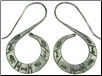Karen Tribe Silver Hanging Flat Stamped S Spiral Earrings (SKU: E48)