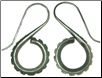 Karen Tribe Silver Hanging Industrial Spiral Earrings (SKU: E54)