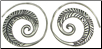 Karen Tribe Silver Flat Spiral Leaf Design Earrings (SKU: E58)