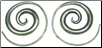 Karen Tribe Silver Round Spiral Earrings (SKU: E60)