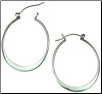 Sterling Silver Hanging Hoop Earrings (SKU: E73)