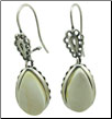 Sterling Silver Butterscotch Baltic Amber Teardrop Earrings (SKU: E94)