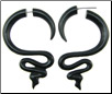 Horn Hanging Snake Fake Gauge Earrings (SKU: HF-5)