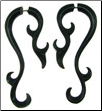 Horn Fancy Spiral Hook Fake Gauge Earrings (SKU: HF18)