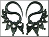 Large Gauge Fancy Horn Lace S Hook Earrings (SKU: HHK2)