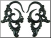 Large Gauge Fancy Horn Hook Earrings (SKU: HHK5)