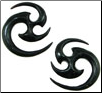 Large Gauge Horn Matrix Earrings (SKU: HHK7)