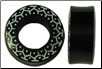 Hollow Horn Saddle Plugs, Marquesas Tattoo Designs (SKU: HHSMP)