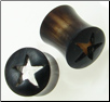 Hollow Horn Saddle Plugs, Cut-out Stars (SKU: HHSST)