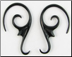 Large Gauge Horn Adorn Spiral Hook Earrings (SKU: HOOKH411)
